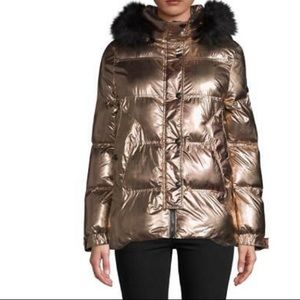 Sam Edelman,Fur Trim Puffer Jacket,copper,NWT